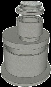 Железобетонные кольца основания колодцев